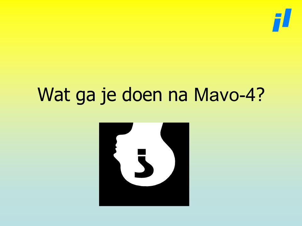 Wat ga je doen na Mavo-4