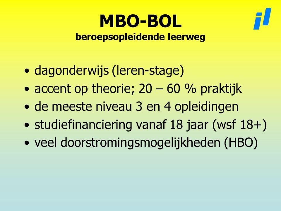 MBO-BOL beroepsopleidende leerweg