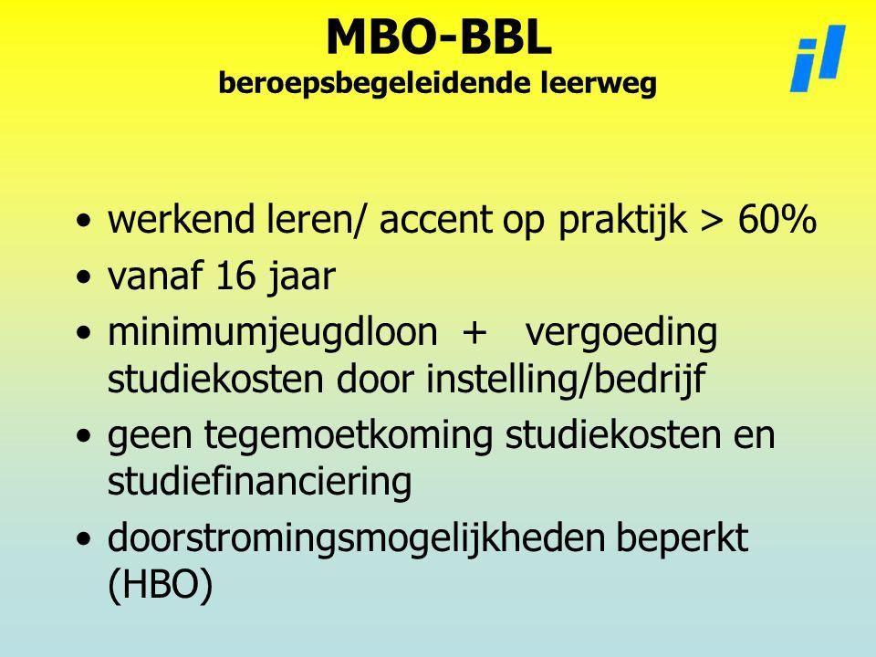 MBO-BBL beroepsbegeleidende leerweg