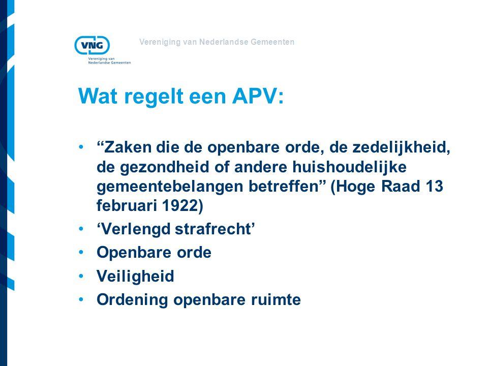 Wat regelt een APV: