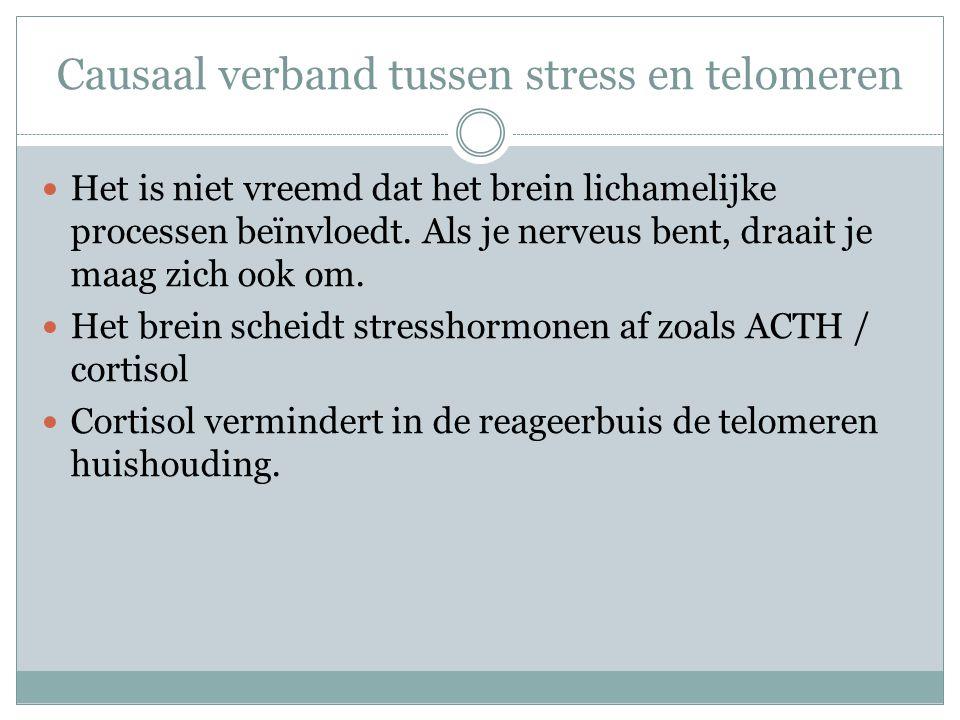 Causaal verband tussen stress en telomeren
