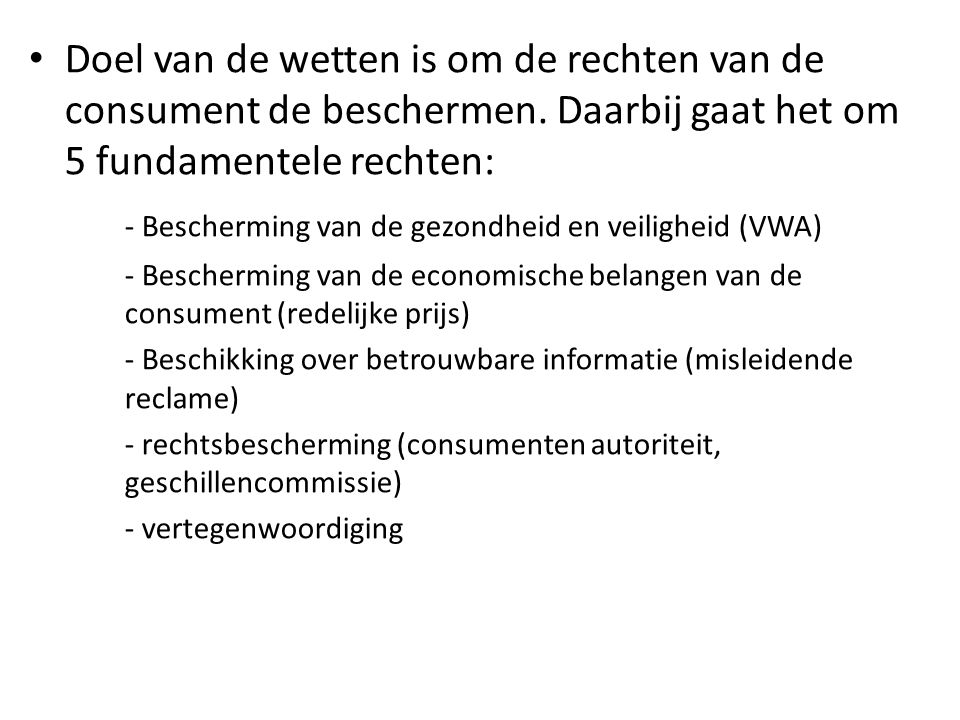 - Bescherming van de gezondheid en veiligheid (VWA)