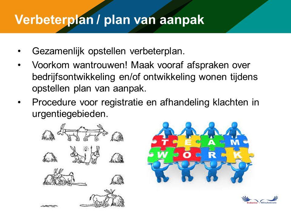 Verbeterplan / plan van aanpak