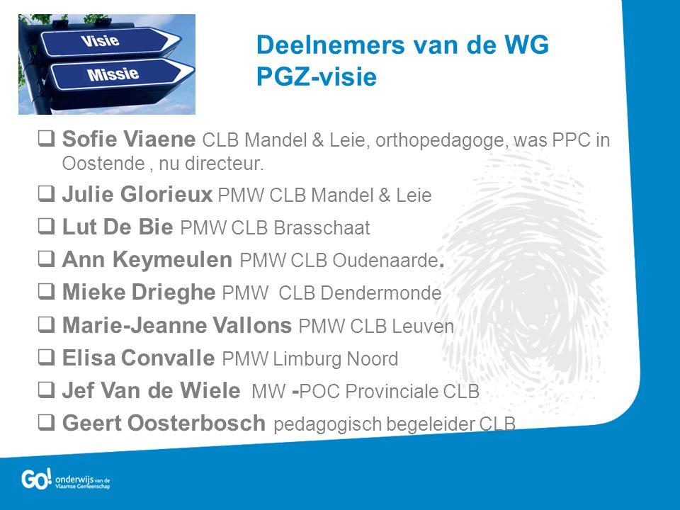 Deelnemers van de WG PGZ-visie