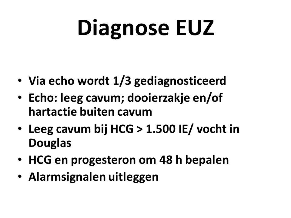 Diagnose EUZ Via echo wordt 1/3 gediagnosticeerd