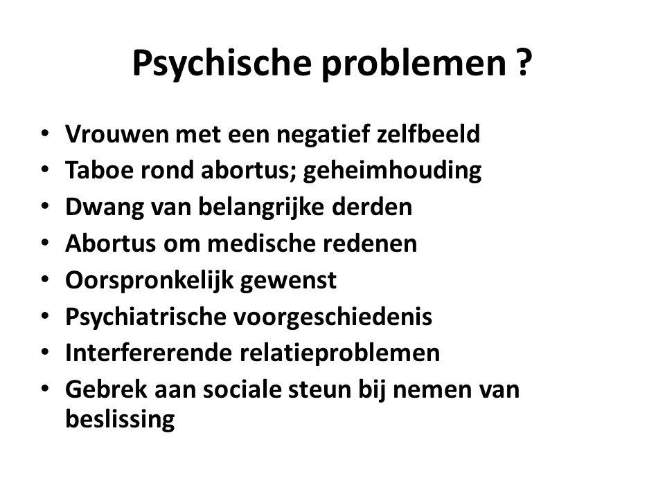 Psychische problemen Vrouwen met een negatief zelfbeeld