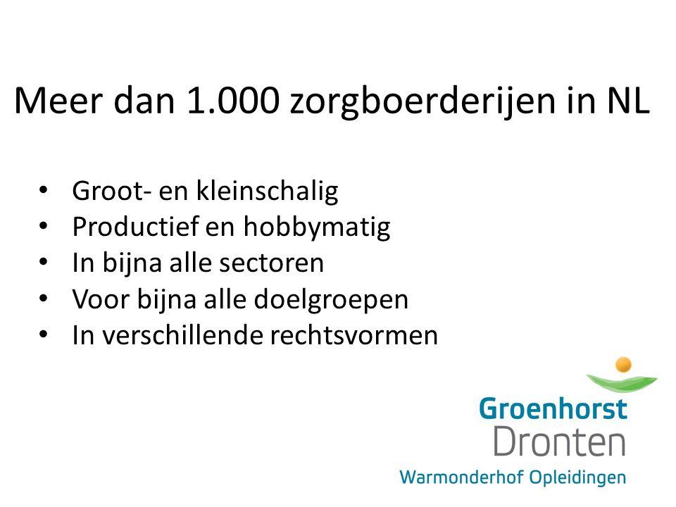 Meer dan 1.000 zorgboerderijen in NL