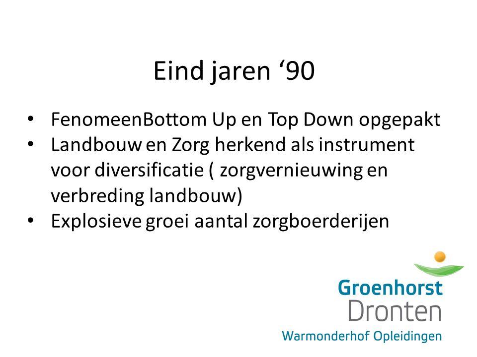 Eind jaren '90 FenomeenBottom Up en Top Down opgepakt