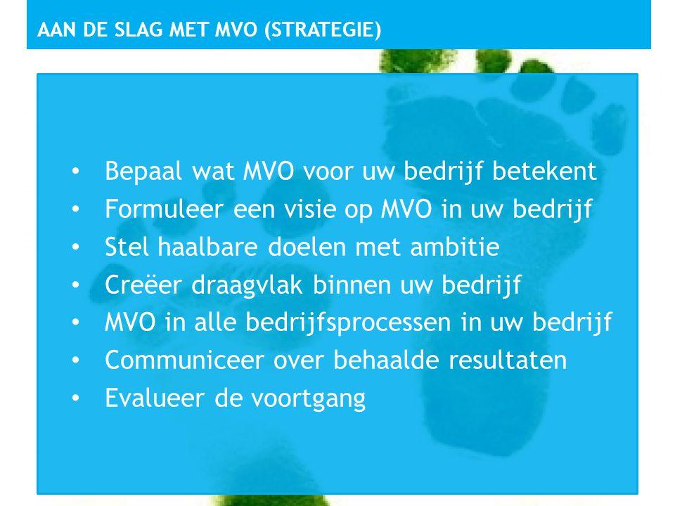 Aan de slag met MVO (strategie)