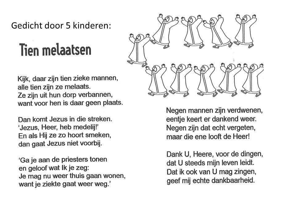 Gedicht door 5 kinderen: