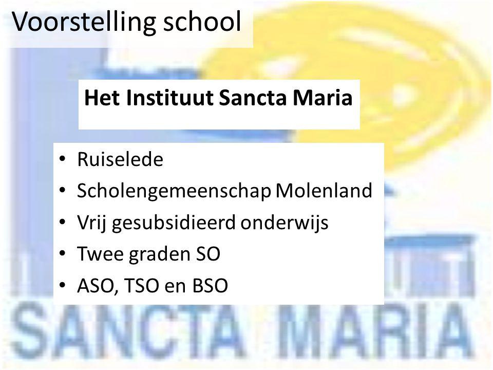 Voorstelling school Het Instituut Sancta Maria Ruiselede