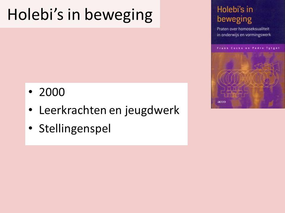 Holebi's in beweging 2000 Leerkrachten en jeugdwerk Stellingenspel