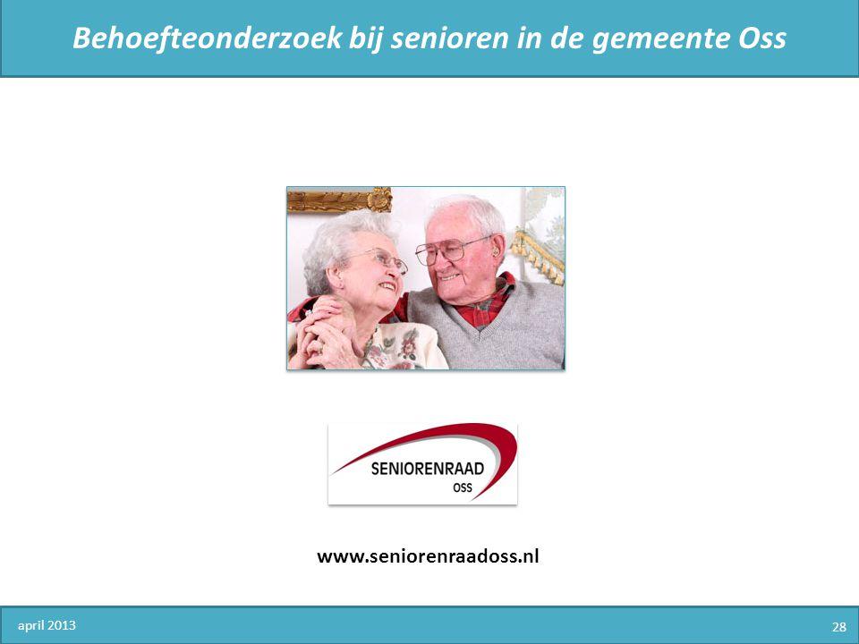 Behoefteonderzoek bij senioren in de gemeente Oss