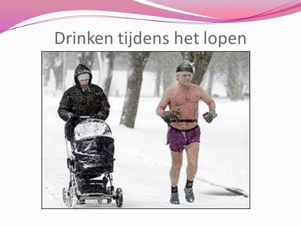 Drinken tijdens het lopen