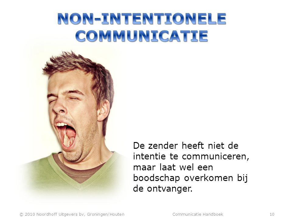 NON-INTENTIONELE COMMUNICATIE