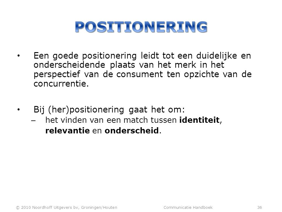 Positionering