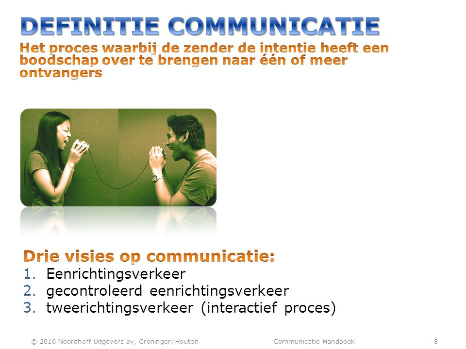 DEFINITIE COMMUNICATIE