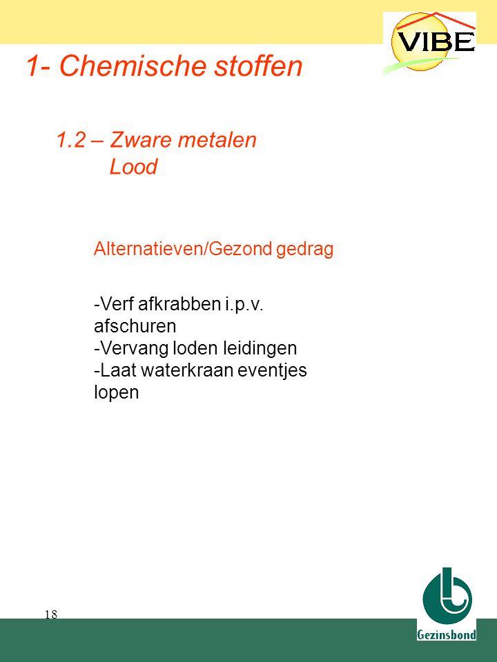 1.2 Zware metalen 1- Chemische stoffen 1.2 – Zware metalen Lood
