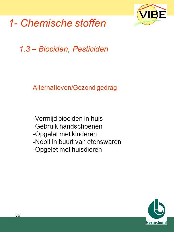 1.3 Biociden, Pesticiden 1- Chemische stoffen