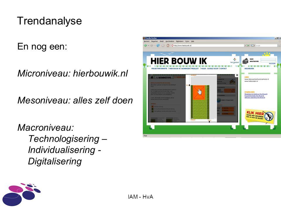 Trendanalyse En nog een: Microniveau: hierbouwik.nl