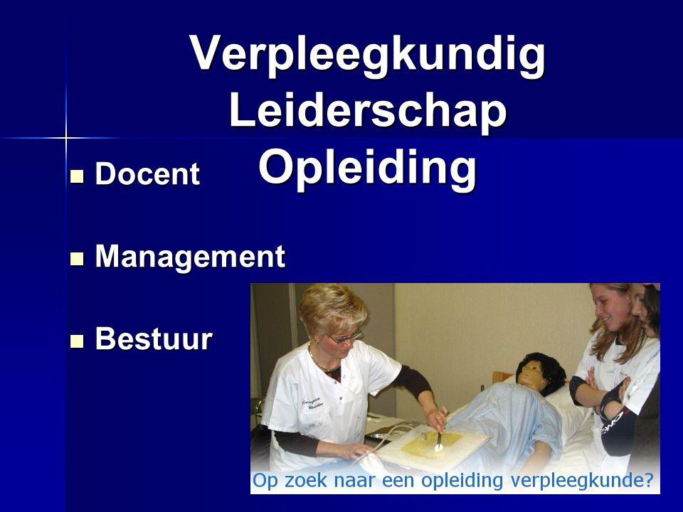 Verpleegkundig Leiderschap Opleiding
