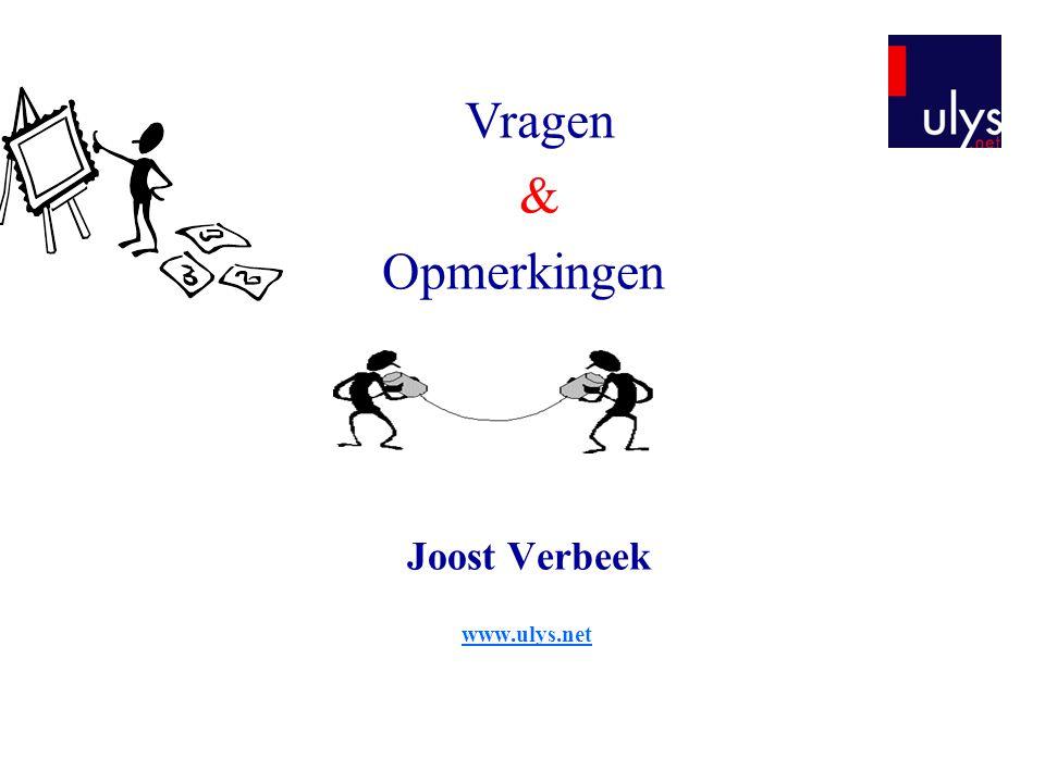 Joost Verbeek www.ulys.net
