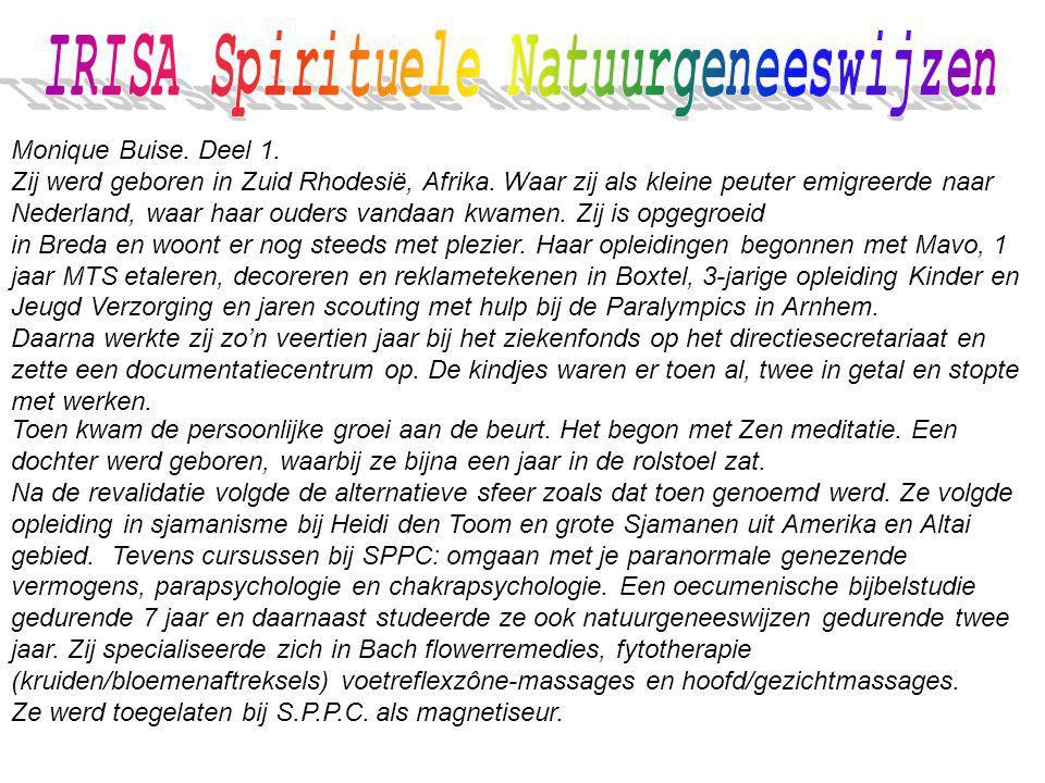 IRISA Spirituele Natuurgeneeswijzen