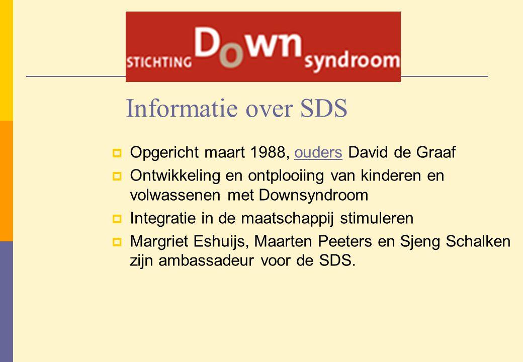 Informatie over SDS Opgericht maart 1988, ouders David de Graaf