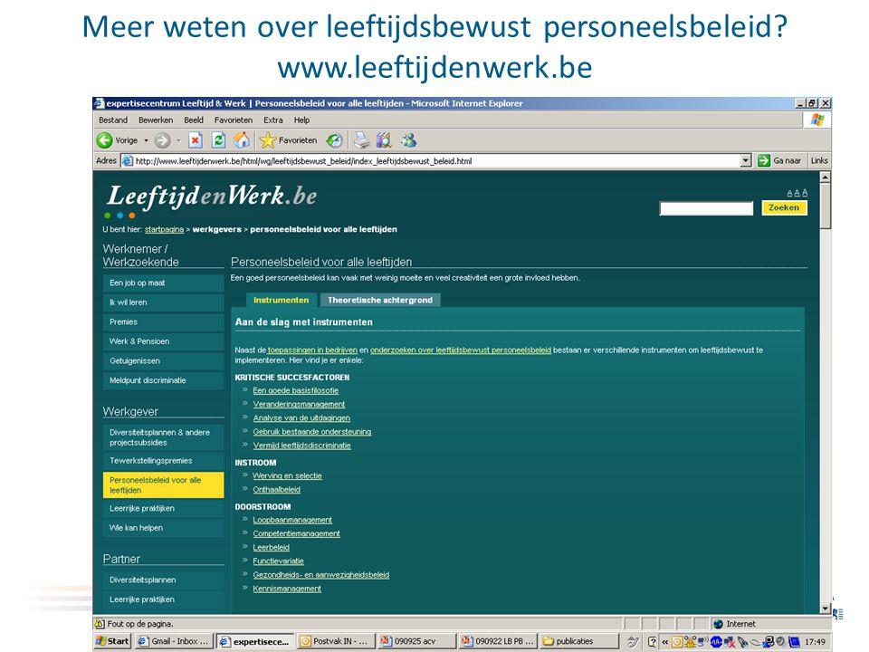 Meer weten over partners www.leeftijdenwerk.be