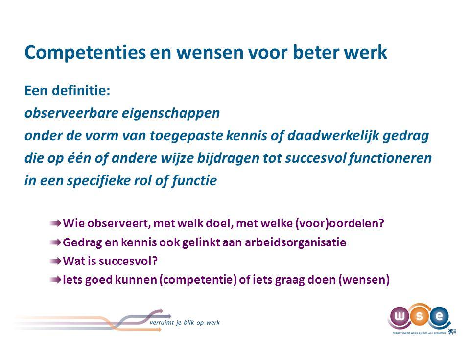 Competenties in het beleid van de organisatie