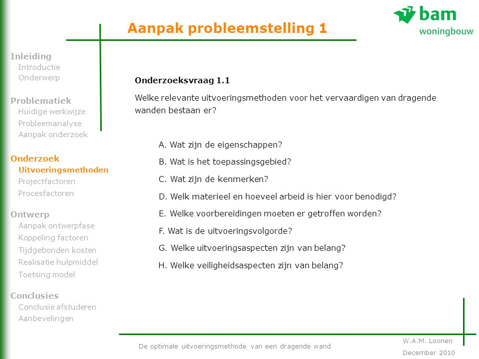 Aanpak probleemstelling 1