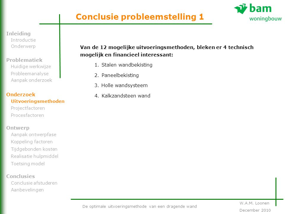 Conclusie probleemstelling 1