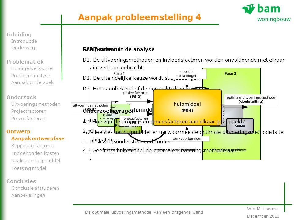 Aanpak probleemstelling 4
