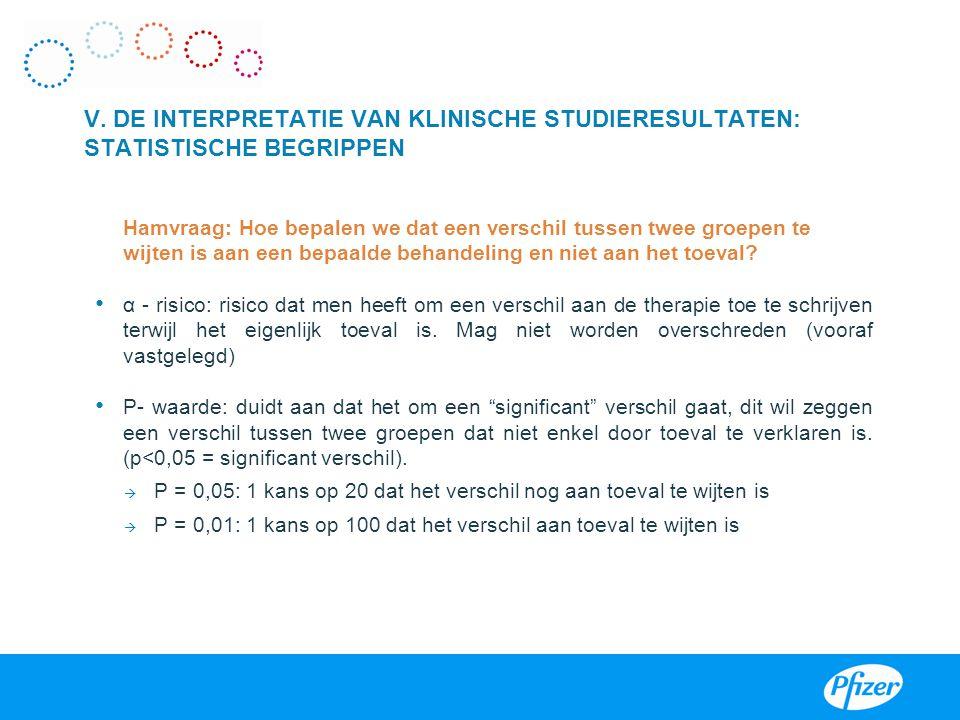 III V. DE INTERPRETATIE VAN KLINISCHE STUDIERESULTATEN: STATISTISCHE BEGRIPPEN.