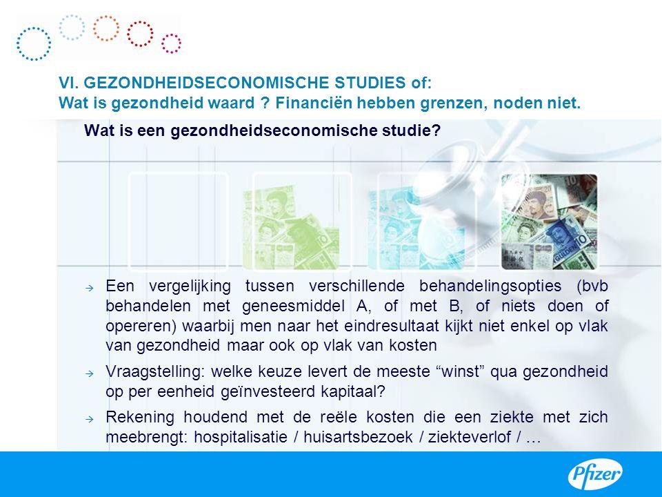 VI. GEZONDHEIDSECONOMISCHE STUDIES of: