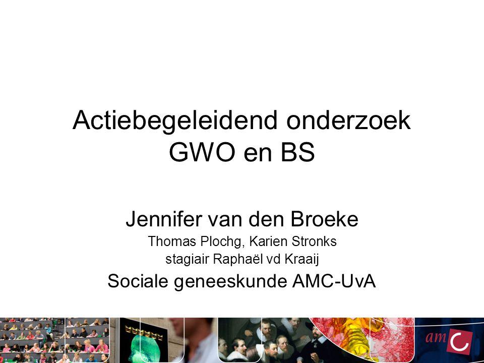 Actiebegeleidend onderzoek GWO en BS