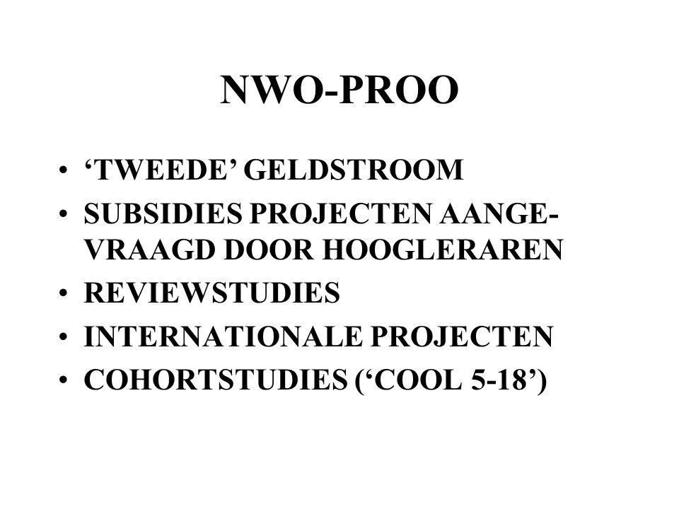 NWO-PROO 'TWEEDE' GELDSTROOM