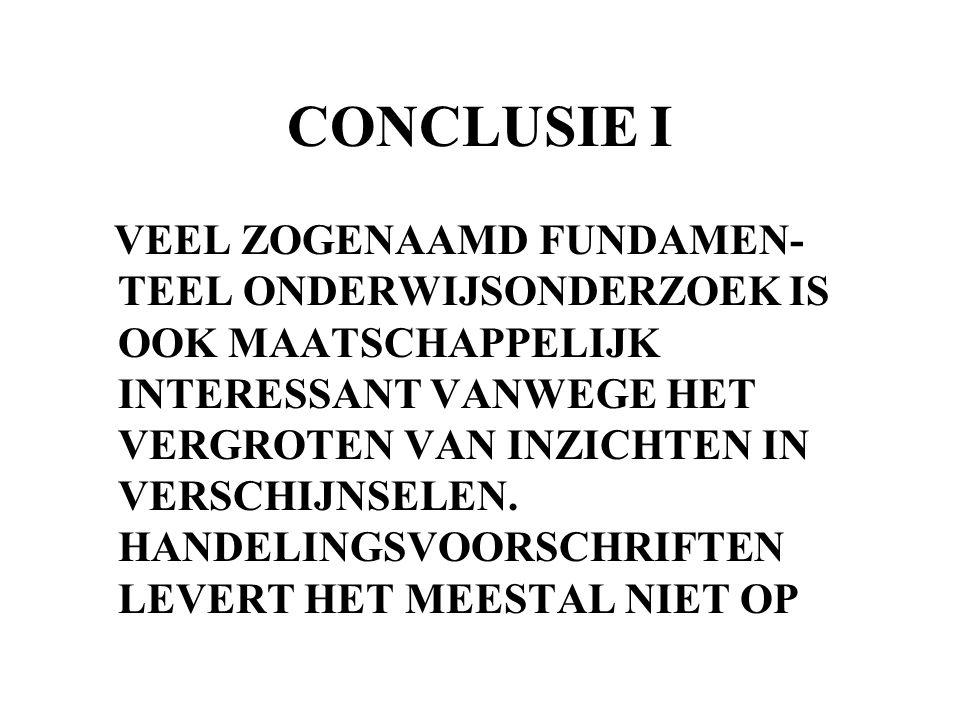 CONCLUSIE I