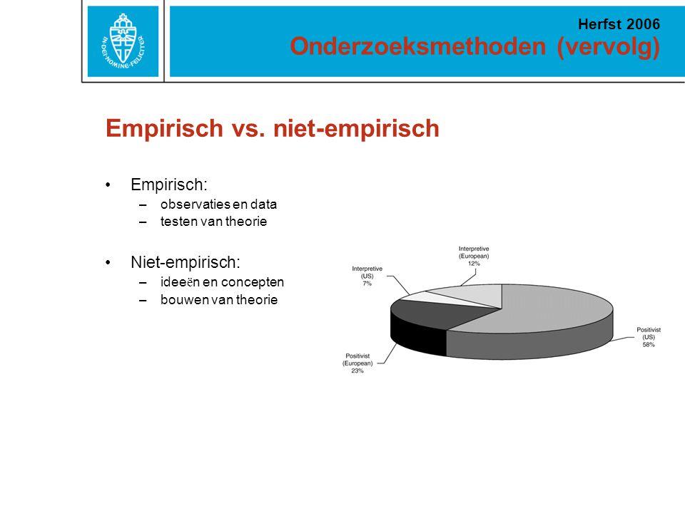 Empirisch vs. niet-empirisch