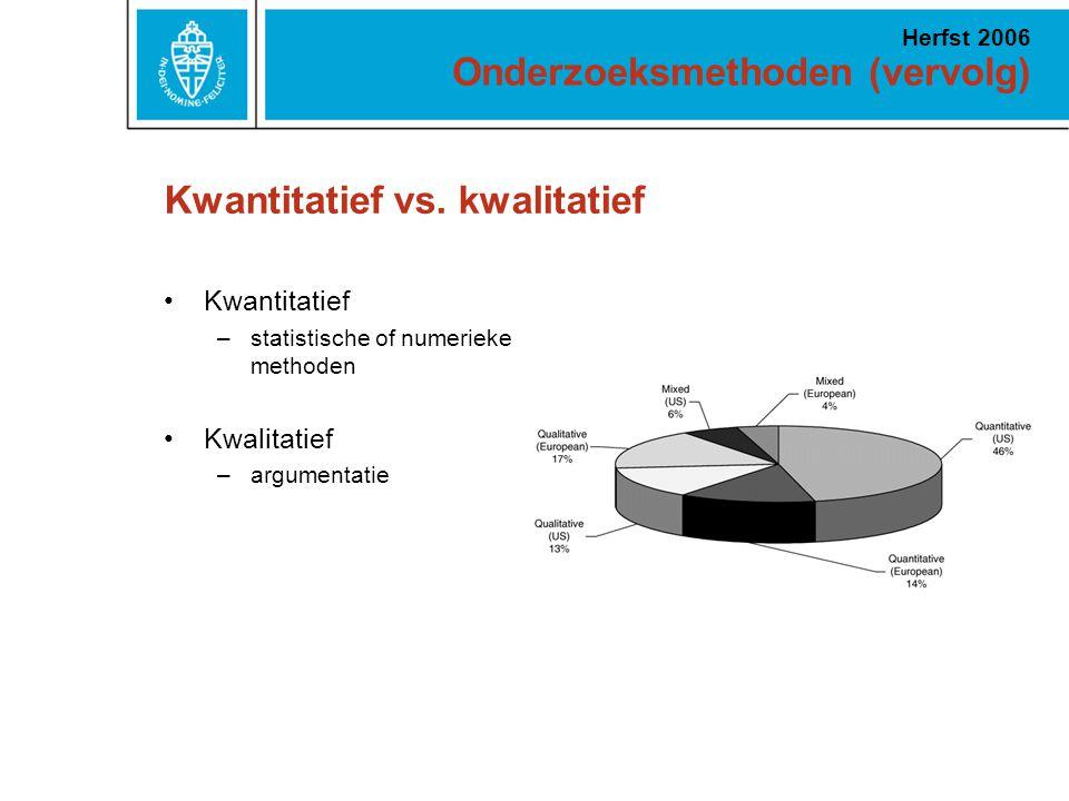 Kwantitatief vs. kwalitatief