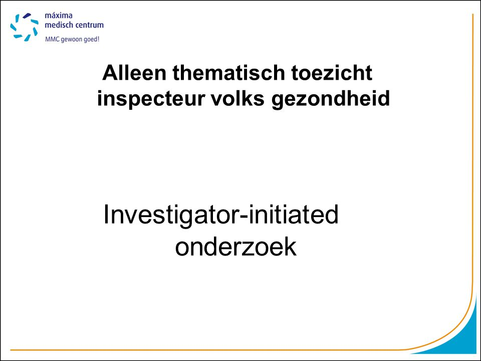 Investigator-initiated onderzoek