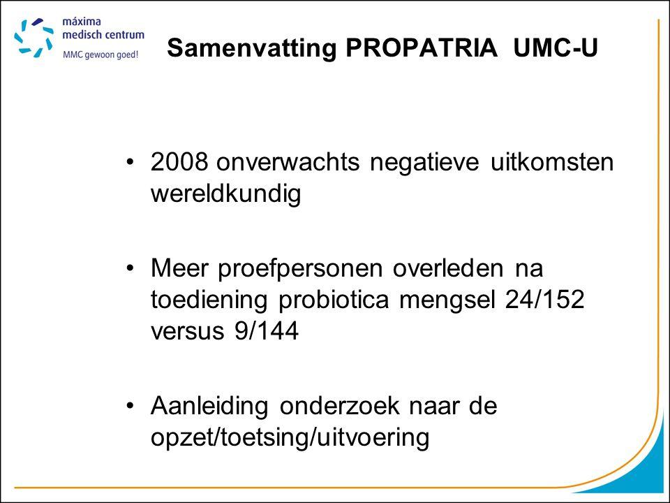 Samenvatting PROPATRIA UMC-U