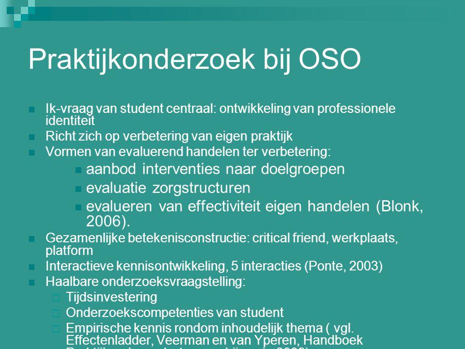 Praktijkonderzoek bij OSO