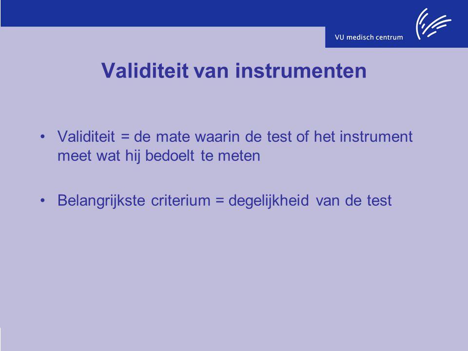 Validiteit van instrumenten