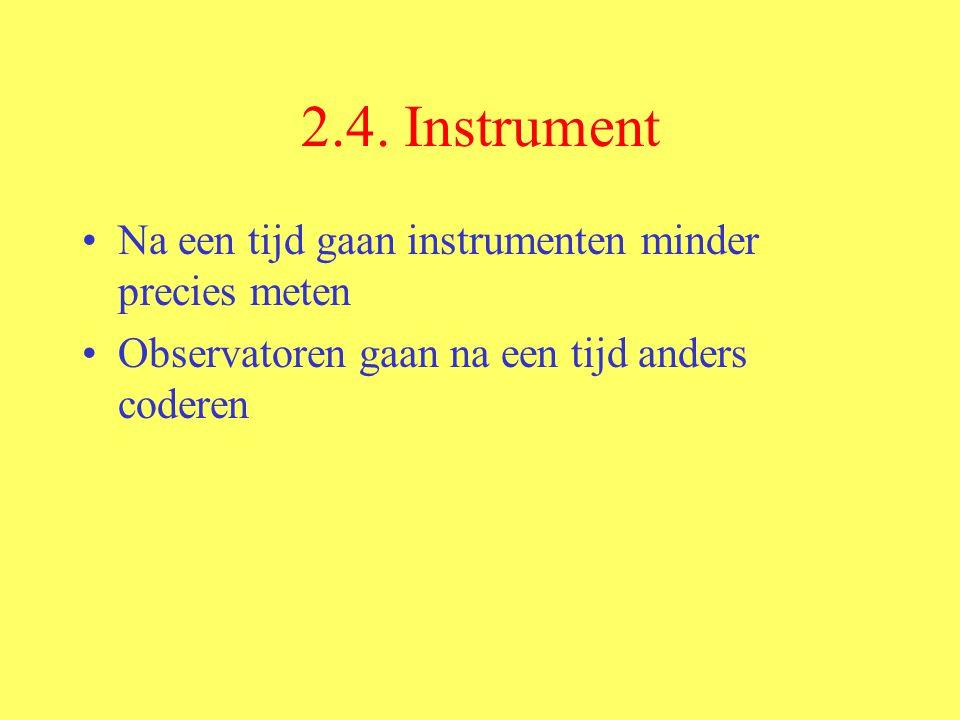 2.4. Instrument Na een tijd gaan instrumenten minder precies meten