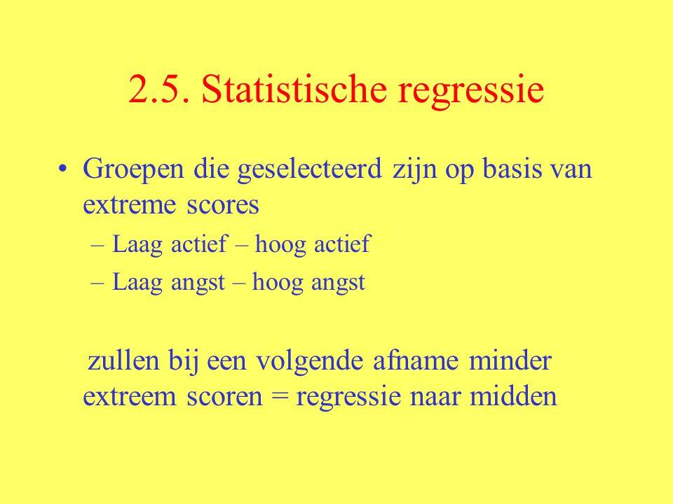 2.5. Statistische regressie