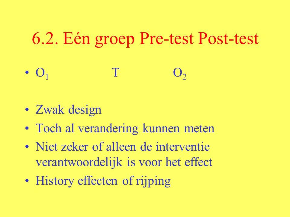 6.2. Eén groep Pre-test Post-test