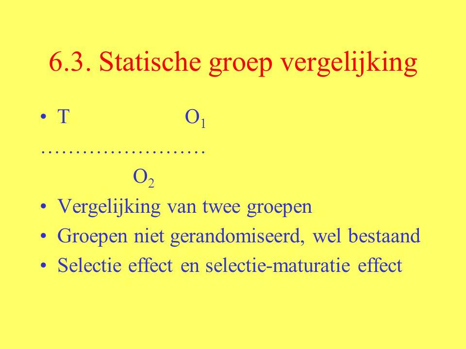 6.3. Statische groep vergelijking