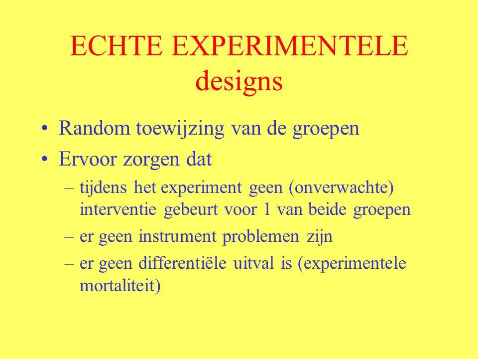 ECHTE EXPERIMENTELE designs
