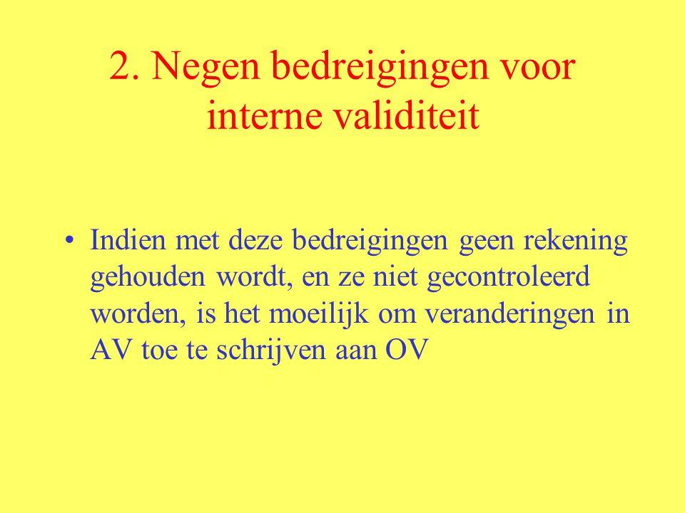 2. Negen bedreigingen voor interne validiteit